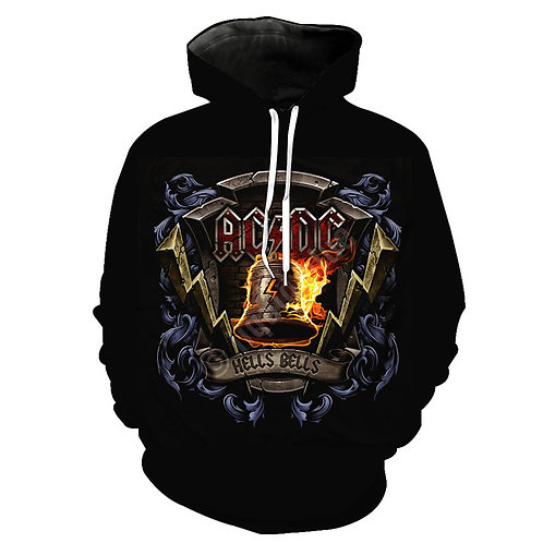 OFFICIAL-AC/DC-HELLS-BELLS-PULLOVER-HOODIE/3D-CUSTOM-DOUBLE-SIDED-GRAPHIC-PRINT!
