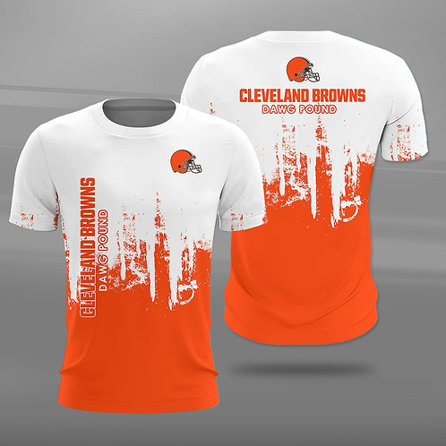 OFFICIAL-N.F.L.CLEVELAND-BROWNS-TEAM-SPORT-TEE-SHIRTS/CUSTOM-3D-DAWG-POUND-LOGOS