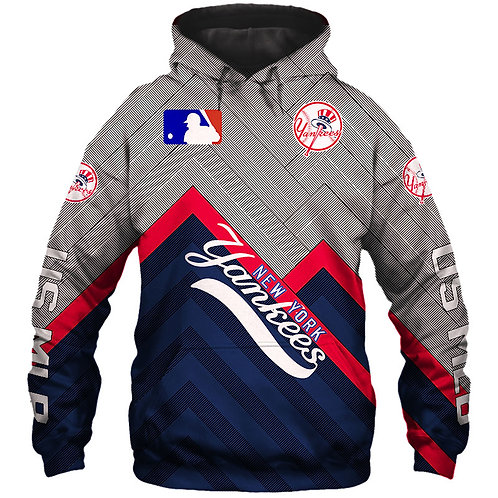 *(OFFICIALLY-LICENSED-M.L.B. NEW-YORK-YANKEES/3D-GRAPHIC-PRINTED-TEAM-HOODIES)*