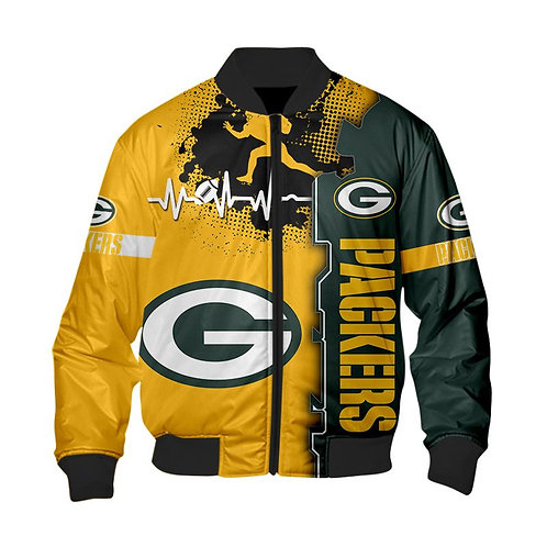 OFFICIAL-N.F.L.GREEN-BAY-PACKERS-3D-CUSTOM-JACKETS/CLASSIC-PACKERS-TEAM-COLORS!!