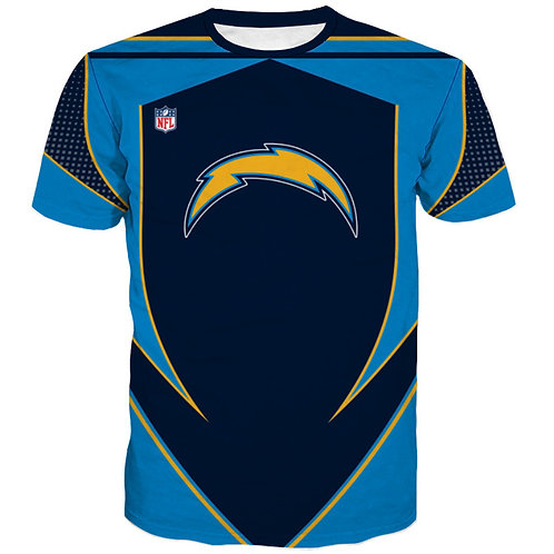 OFFICIAL-N.F.L.LOS-ANGELES-CHARGERS/3D-CUSTOM-GRAPHIC-PRINTED-TEAM-COLORED-TEES!