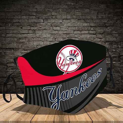 OFFICIAL-NEW-YORK-YANKEES-LOGOS-PROTECTIVE-FACE-MASK/CUSTOM-3D-PRINTED DESIGNED!
