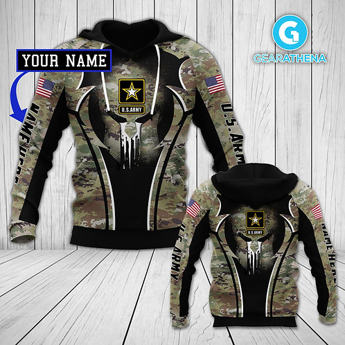 OFFICIAL-U.S.ARMY-CAMO.PULLOVER-HOODIE/CUSTOMIZE-WITH-YOUR-NAME-OR-MILITARY-UNIT