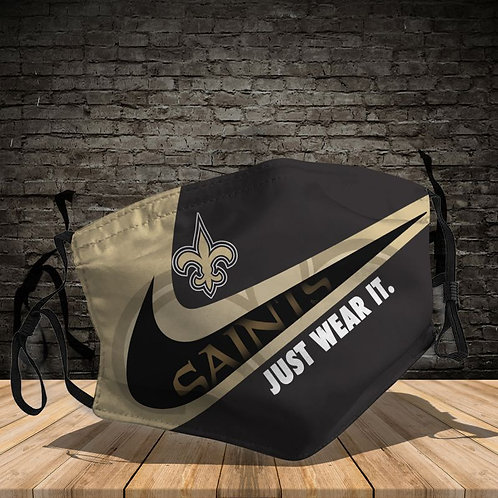OFFICIAL-NEW-ORLEANS-SAINTS-TEAM-PROTECTIVE-FACE-MASK/CUSTOM-3D-PRINTED DESIGNED