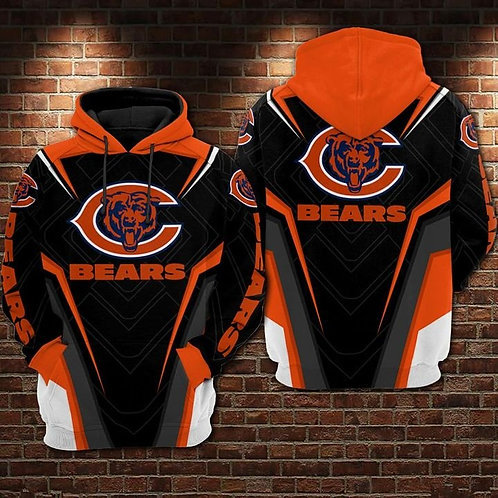 OFFICIAL-N.F.L.CHICAGO-BEARS-PULLOVER-TEAM-HOODIE/CUSTOM-3D-GRAPHIC-PRINT-DESIGN