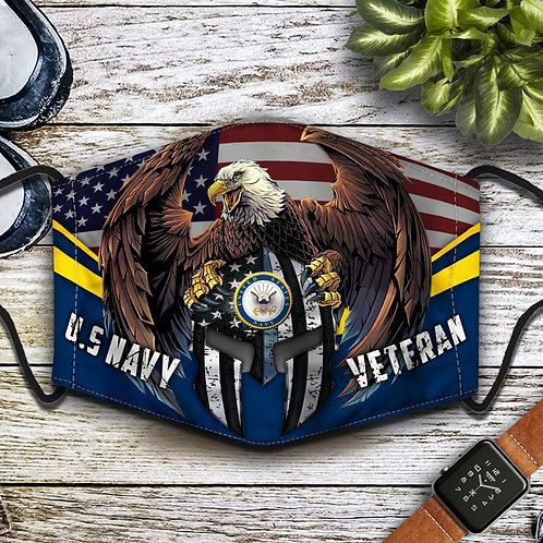 OFFICIAL-U.S.NAVY-VETERANS-PROTECTIVE-FACE-MASK/NEW-CUSTOM-3D-PRINTED DESIGN!!