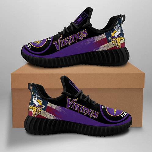 OFFICIAL-MINNESOTA-VIKINGS-TEAM-BLACK-SPORT-SHOES/CUSTOM-3D-DESIGN-VIKINGS-LOGOS