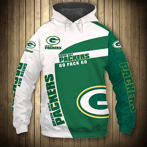 OFFICIAL-N.F.L.GREEN-BAY-PACKERS-PULLOVER-HOODIES/CUSTOM-3D-GRAPHIC-PRINTED!