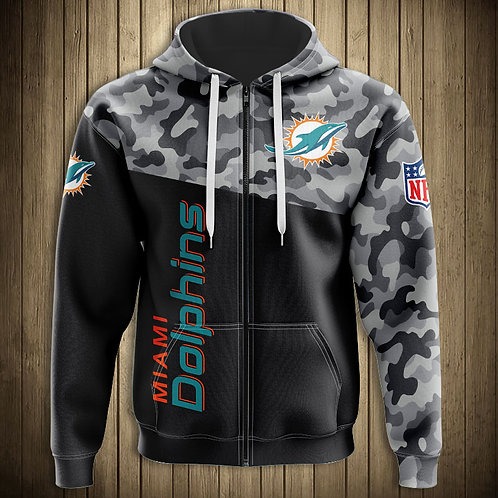 OFFICIAL-N.F.L.MIAMI-DOLPHINS-TEAM-ZIPPERED-HOODIES/NEW-CUSTOM-CAMO.3D-CHIEFS!!
