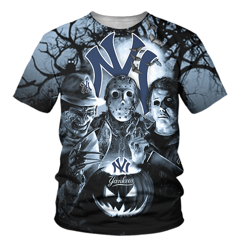 OFFICIAL-M.L.B.NEW-YORK-YANKEES/NEW-CUSTOM-3D-PRINTED-PREMIUM-HALLOWEEN-TEES!!