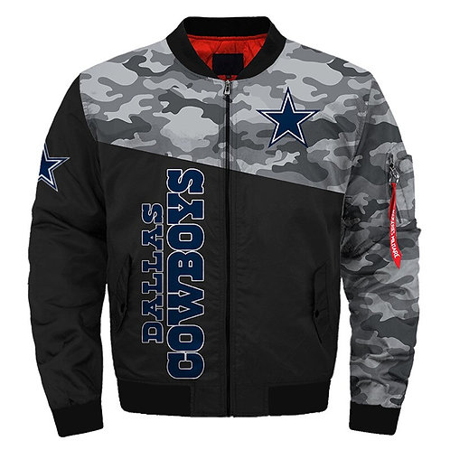 OFFICIAL-N.F.L.DALLAS-COWBOYS-TEAM-JACKETS/WARM-PREMIUM-CUSTOM-3D-CAMO.DESIGN!!