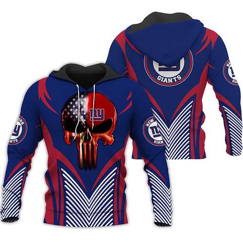 OFFICIAL-N.F.L.NEW-YORK-GIANTS-PULLOVER-HOODIE/NEW-CUSTOM-3D-FLAG-PUNISHER-SKULL