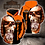 Thumbnail: OFFICIAL-HARLEY-DAVIDSON-PULLOVER-HOODIES/CUSTOM-3D-GRAPHIC-PRINTED-FANGED-SKULL