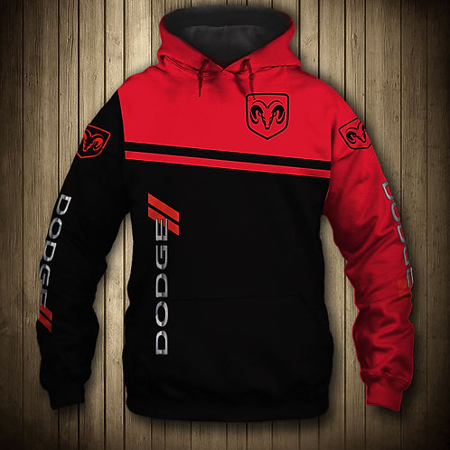 *OFFICIAL-DODGE-RAM-PULLOVER-HOODIES/NEW-3D-CUSTOM-PRINTED-DOUBLE-SIDED-DESIGNS*