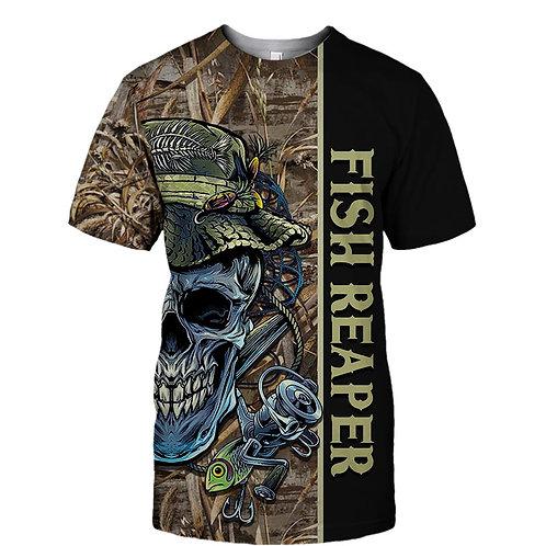 OFFICIAL-FISHING-SKULL-CAMO.SPORT-TEE-SHIRTS/CUSTOM-3D-PRINTED-THE-FISH-REAPER!!
