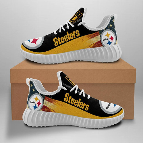 OFFICIAL-PITTSBURGH-STEELERS-TEAM-WHITE-SHOES/CUSTOM-3D-DESIGN-STEELERS-LOGOS!!