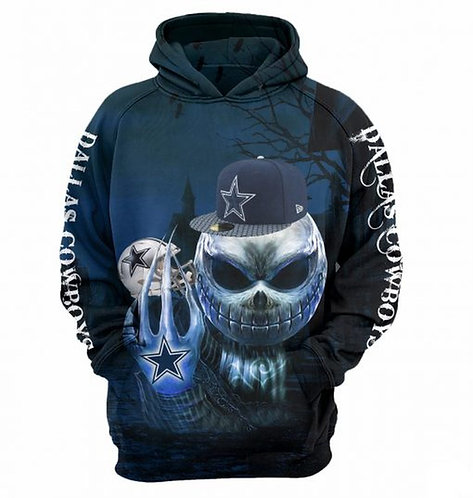 NEW-OFFICIAL-N.F.L.DALLAS-COWBOYS-TEAM-PULLOVER-HOODIES/CUSTOM-3D-JACK-SKELETON!