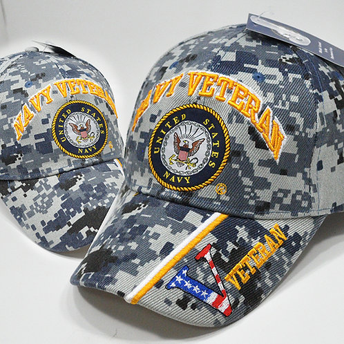 OFFICIALLY-LICENSED-U.S.NAVY-DIGITAL-BLUE-CAMO.VETERANS-HATS/3D-CUSTOM-GRAPHICS!