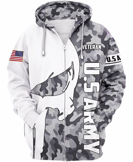 OFFICIAL-U.S.ARMY-CAMO.ZIPPERED-HOODIES/CUSTOM-3D-GRAPHIC-PRINTED-PUNISHER-SKULL