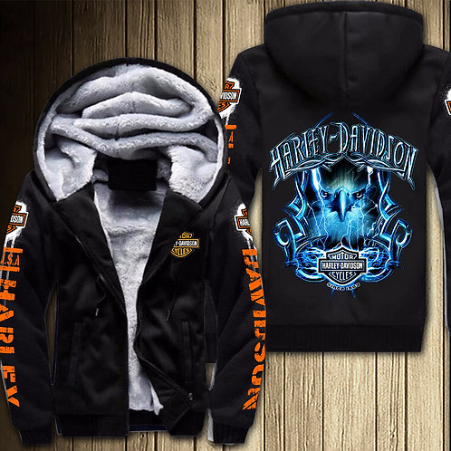 *OFFICIAL-HARLEY-DAVIDSON-MOTORCYCLE-FLEECE-ZIPPERED-HOODIES/CUSTOM-3D-GRAPHICS*