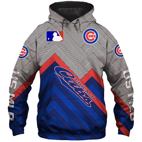 *OFFICIAL-M.L.B.CHICAGO-CUBS-TEAM-PULLOVER-HOODIES/NEW-3D-CUSTOM-PRINTED-DESIGN*