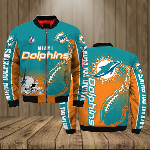 OFFICIAL-N.F.L.MIAMI-DOLPHINS-TEAM-JACKET/WARM-PREMIUM-CUSTOM-3D-PRINTED-DESIGN!