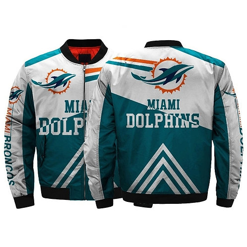 **(OFFICIAL-N.F.L.MIAMI-DOLPHINS-CUSTOM-JACKETS/CLASSIC-DOLPHINS-TEAM-COLORS)**