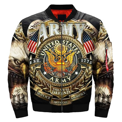 *(OFFICIAL-U.S.ARMY-VETERANS-FLIGHT-JACKETS & THIS-WE'LL-DEFEND/CUSTOM-PRINTED)*