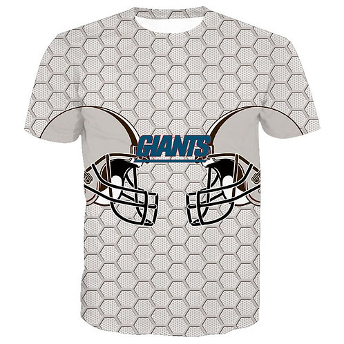 OFFICIAL-N.F.L.NEW-YORK-GIANTS/NEW-3D-CUSTOM-GRAPHIC-PRINTED-TEAM/GAME-DAY-TEES!