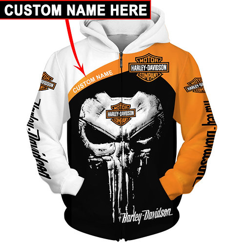 OFFICIAL-HARLEY-DAVIDSON-ZIPPERED-HOODIE/WE-CUSTOMIZE-WITH-YOUR-NAME-OR-ANYTHING
