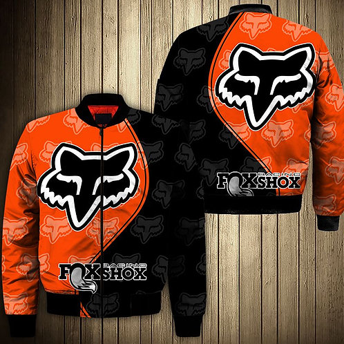 OFFICIAL-FOXSHOX-RACING-BOMBER-JACKETS/CUSTOM-3D-GRAPHIC-PRINTED-DOUBLE-SIDED!!