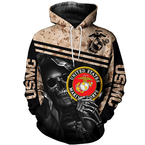 OFFICIAL-U.S.MARINES-PULLOVER-HOODIES/NEW-CUSTOM-3D-GRAPHIC-PRINTED-GRIM-REAPER!