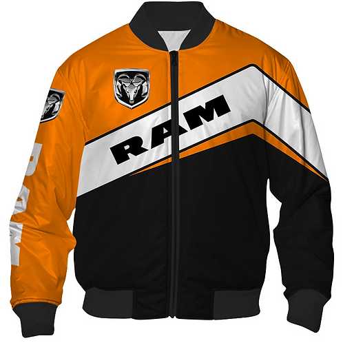OFFICIAL-DODGE-RAM-FLIGHT-JACKETS/NEW-CUSTOM-3D-GRAPHIC-PRINTED-DODGE-RAM-DESIGN