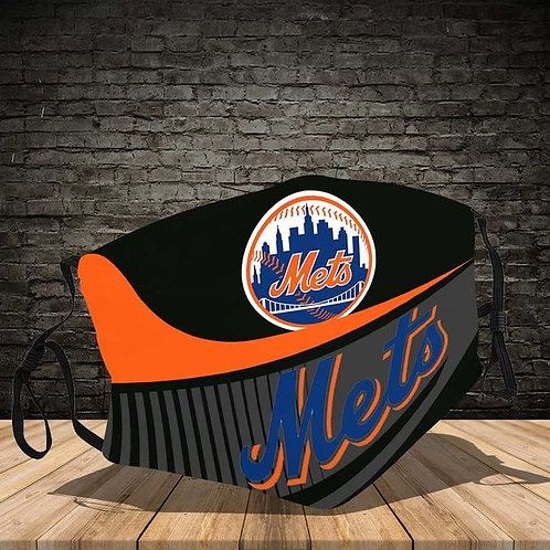 OFFICIAL-NEW-YORK-METS-LOGOS-PROTECTIVE-FACE-MASK/NEW-CUSTOM-3D-PRINTED DESIGNED
