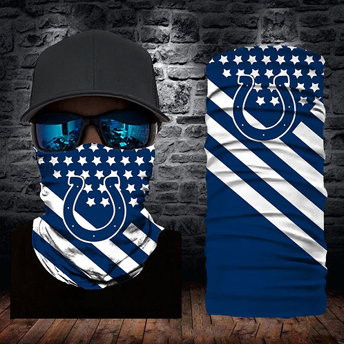 OFFICIAL-N.F.L.INDIANAPOLIS-COLTS-FACE & GAITER-NECK-SCARFS/MULTI-USE-SPORT-MASK