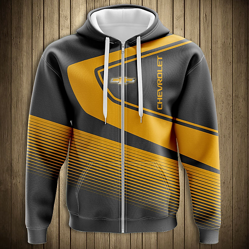 *OFFICIAL-CHEVY-ZIPPERED-HOODIES/CUSTOM-3D-GRAPHIC-PRINTED-DOUBLE-SIDED-HOODIES*