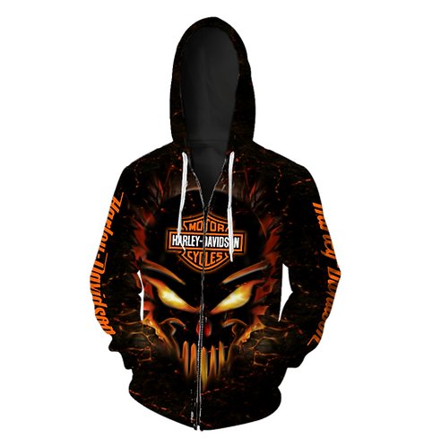 OFFICIAL-HARLEY-DAVIDSON-ZIPPERED-HOODIES/3D-CUSTOM-GRAPHIC-PRINTED-HARLEY-SKULL