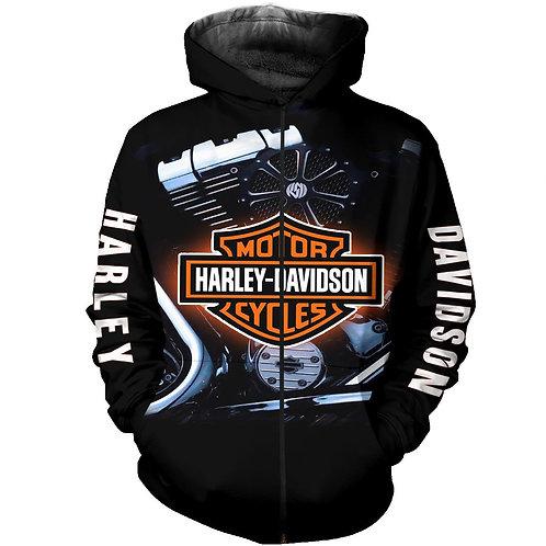OFFICIAL-HARLEY-DAVIDSON-ZIPPERED-HOODIES/CUSTOM-3D-GRAPHIC-PRINTED-BIKER-HOODIE