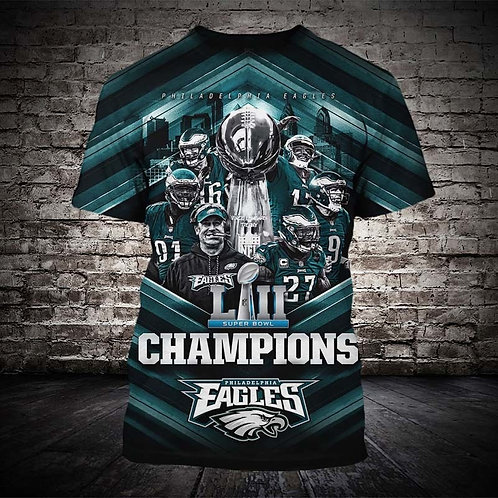 OFFICIAL-N.F.L.PHILADELPHIA-EAGLES/SUPER-BOWL-LII-CHAMPIONS/NEW-3D-PRINTED-TEES!