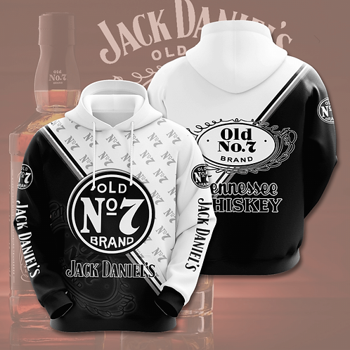 OFFICIAL-JACK-DANIELS-PULLOVER-HOODIES/CUSTOM-3D-PRINTED-DESIGN-OLD-NO.7-BRAND!