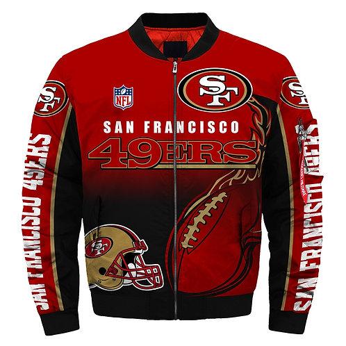 OFFICIAL-N.F.L.SAN-FRANCISCO-49ERS-JACKETS/WARM-PREMIUM-CUSTOM-3D-GRAPHIC-DESIGN