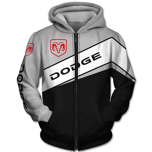 OFFICIAL-DODGE-RAM-ZIPPERED-HOODIES/CUSTOM-3D-GRAPHIC-PRINTED-DODGE-RAM-DESIGN!!