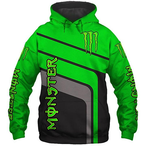 OFFICIAL-MONSTER-ENERGY-NEON-GREEN-PULLOVER-HOODIES/CUSTOM-3D-GRAPHIC-DESIGNED!!
