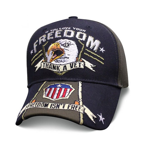 OFFICIALLY-LICENSED-U.S.VETERANS-HATS/NEW-CUSTOM-3D-EMBROIRDERED-GRAPHIC-DESIGN!
