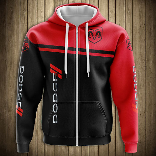 *OFFICIAL-DODGE-RAM-ZIPPERED-HOODIES/NEW-3D-CUSTOM-PRINTED-DOUBLE-SIDED-DESIGNS*