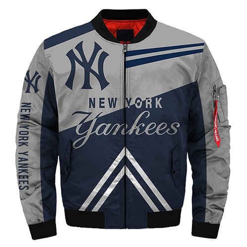 OFFICIAL-M.L.B. NEW-YORK-YANKEES-TEAM-FLIGHT-JACKETS/CUSTOM-DETAILED-3D-GRAPHICS