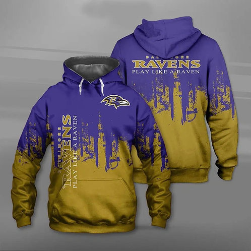 OFFICIAL-N.F.L.BALTIMORE-RAVENS-TEAM-PULLOVER-HOODIES/CUSTOM-PLAY-LIKE-A-RAVEN!