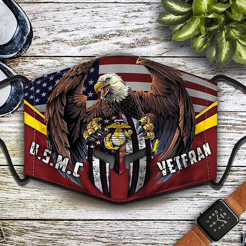 OFFICIAL-U.S.MARINES-VETERANS-PROTECTIVE-FACE-MASK/NEW-CUSTOM-3D-PRINTED DESIGN!