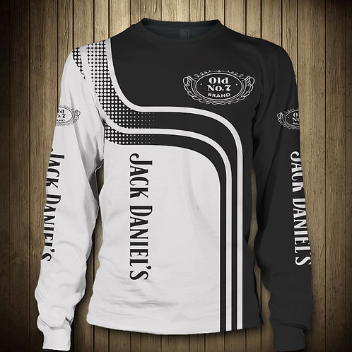 OFFICIAL-JACK-DANIELS-LONG-SLEEVE-TEES/CUSTOM-3D-GRAPHIC-PRINTED-OLD-NO.7-BRAND!