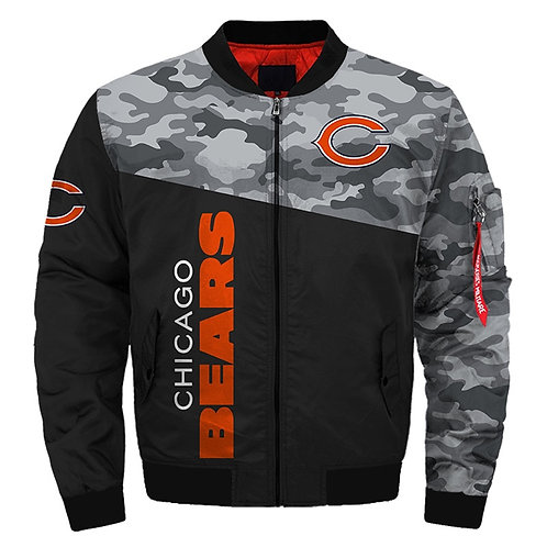 OFFICIAL-N.F.L.CHICAGO-BEARS-TEAM-JACKETS/WARM-NEW-PREMIUM-CUSTOM-3D-CAMO.DESIGN